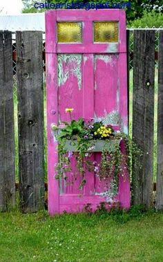 Not sure I like the Old Door being the garden, but I love the splash of color.