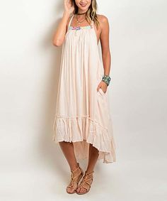 Look at this Peach Geometric Racerback Hi-Low Dress on #zulily today!