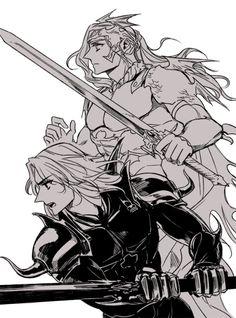 Cecil + Kain (FFIV)   Dune