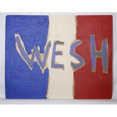 "Victor Guti  ""West"" Acrylic on wood 50 x 40 cm 2015"