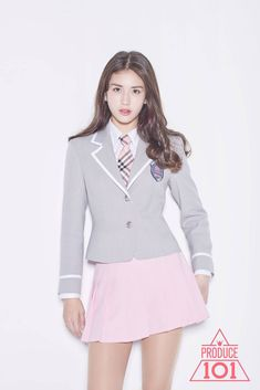 School Uniform Fashion, School Girl Outfit, School Uniform Girls, Girls Uniforms, School Uniforms, School Outfits, Jeon Somi, Kim Sejeong, Girls In Mini Skirts