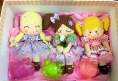 Bonecas em Feltro Sabonetes Artesanal | Saboaria espuma de sabão ...