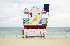 Photographer Léo Caillard recorded the wondrous beach huts of Miami in all of their technicolour glory – a series of architectural parties, providing shelter and safety when the tides are high.