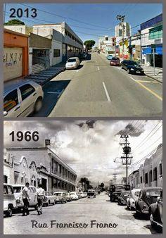 Redescobrindo o Alto Tietê: Antes e Depois - Rua Francisco Franco