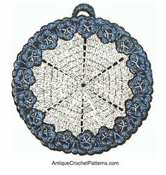 Flower Edged Potholder - Free Crochet Potholder Pattern