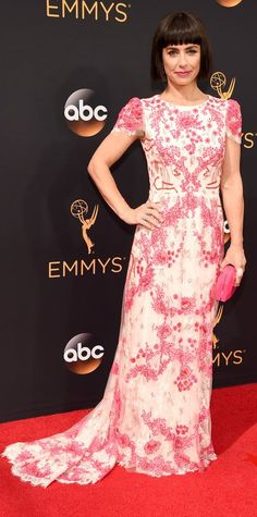 Constance Zimmer in Monique Lhuillier- 2016 Emmy Awards Best Dressed by The He…