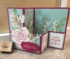 Stampin' Up! Rose Wonder Sympathy z-fold card