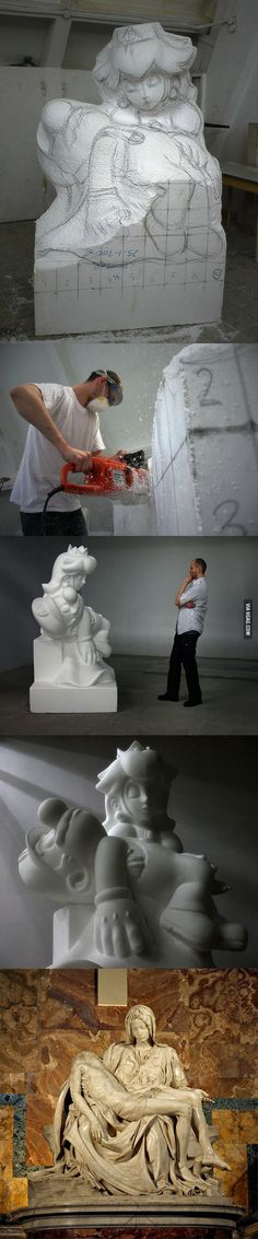 """Game Over"" sculpture by Kordian Lewandowski"