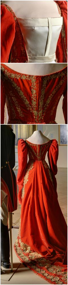 Ceremonial court dress of a maid of honor to the Empress of Russia, St. Petersburg, 1830s. State Hermitage Museum. CLICK FOR LARGE, HI-RES IMAGES.