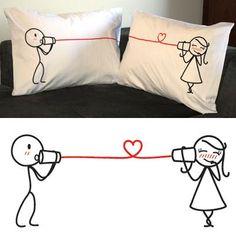 "Gift Idea: ""Say I Love You"" Couple Pillowcase Set"