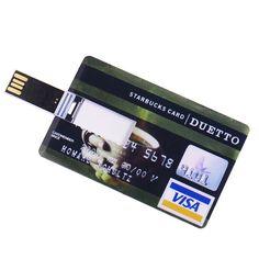 Business card shape usb flash drive