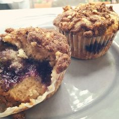 Blueberry Coffeecake Muffins! A cinnamon coffeecake with a blueberry filling and a cinnamon walnut streusel on top! What a way to start your morning!
