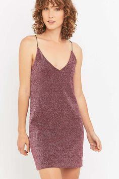 Sparkle & Fade Lurex Slip Dress