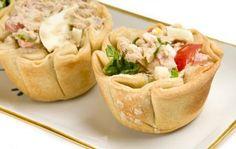 Tuna Salad Cups  http://www.starkist.com/recipe/tuna-salad-cups#
