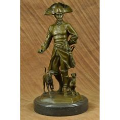 ON SALE !!! Frederick The Great Warrior King With Two Dogs Bronze Sculpture Marble Statue...Frederick The Great, King Of Old Prussia, And Warrior King (Father Of Prussian Militarism) Is Revered In Germany Like No Other; Even In Germany�S Ultra Liberal Society Of Today. Even In The Orwellian Nightmare Of German Government Circles This Noble And Heroic Figure Has His Admirers. This Sculpture Was Crafted Using The Lost Wax Method. It Rests On A Black Marble Base. It Is Signed By Its Artist, R…
