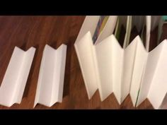 YouTube Fancy Fold Cards, Folded Cards, Tunnel Book Tutorial, Book Crafts, Paper Crafts, Concertina Book, Licht Box, 3d Paper Art, Science Projects For Kids