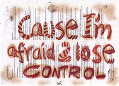 Afraid 2 lose control   Original Art print by EmisCorner on Etsy