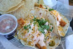 Fried lobster tacos…Stock Island Florida (by oopsydazy2020)