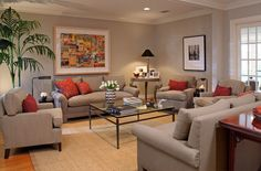 Revere Pewter Living Room and the Choice color  main rooms = living, dining, kitchen, hall