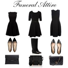 """Funeral Attire"" by sophiarothman on Polyvore"