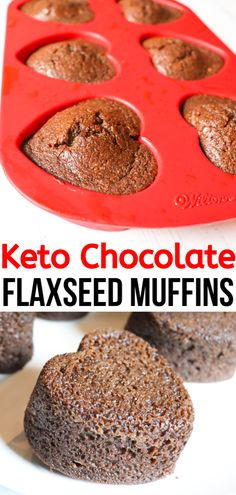You are going to love these Keto Chocolate Flaxseed Muffins that you can easily whip up in your blender. This is a great breakfast option with all sorts of healthy components from the flaxseed meal. Healthy Breakfast Muffins, Healthy Breakfast Options, Breakfast Recipes, Breakfast Bites, Breakfast Cookies, Dinner Recipes, Sin Gluten, Best Nutrition Food, Nutrition Articles