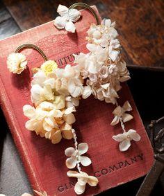 あじさいと小花のイヤーカフ