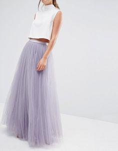 "ASOS - Little Mistress Tulle Skirt in ""Dusty Lilac"""