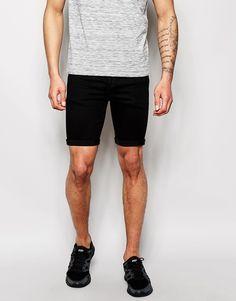 €32, Schwarze Shorts von Asos. Online-Shop: Asos. Klicken Sie hier für mehr Informationen: https://lookastic.com/men/shop_items/246545/redirect