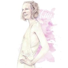 Kim - watercolor portrait by pinodesk #fashionillustration