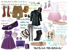 Fashion Inspired by Broadway Alice Angel, Matilda, Amanda, Musicals, Broadway, Halloween Costumes, Style Inspiration, Kids, Clothes