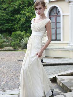 Sheath/Column Off-the-shoulder Chiffon Prom Dresses #USA0258366