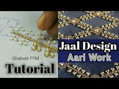Hand Embroidery For Beginners Designing jaal Embroidery Tutorial aari work Zardosi Embroidery, Tambour Embroidery, Blackwork Embroidery, Embroidery Stitches, Embroidery Ideas, Hand Embroidery Videos, Embroidery For Beginners, Hand Embroidery Patterns, Embroidery Techniques