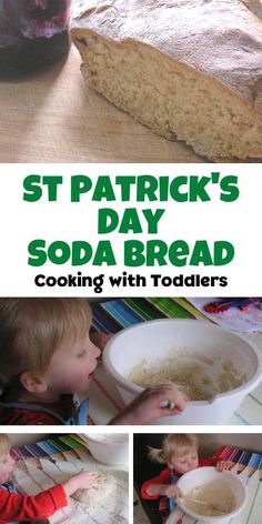 A simple recipe for Soda Bread that even toddlers can make. No buttermilk needed as this use's a cheat's buttermilk in the recipe. Healthy Family Meals, Kids Meals, Recipe For Soda Bread, Traditional Irish Soda Bread, Cooking With Toddlers, Irish Traditions, St Patricks Day, Cooking Recipes, Ethnic Recipes