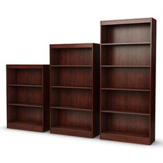 Four Shelf Eco-Friendly Bookcase in Royal Cherry Finish