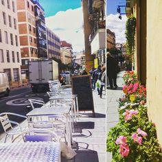 Después de las lluvias de ayer, hoy las terrazas y las flores vuelven a la calle!   Se va notando la primavera   #primavera #sol #FelizMartes #terrazas #pasear #madrid #DiseñaTuMapa #solecitobueno #felizprimavera #alsol #hueleaverano