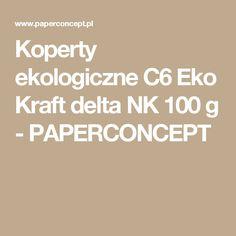 Koperty ekologiczne C6 Eko Kraft delta NK 100 g - PAPERCONCEPT