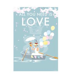 All You Need is Love vintage style, retro quote poster and print by Becky Bettesworth Retro Quotes, She Quotes, Summer Is Here, New Poster, Vintage Travel Posters, Quote Posters, All You Need Is Love, Devon, Real Life
