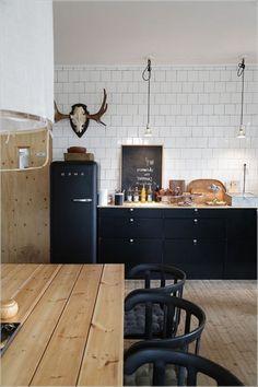Copper and black kitchen cocinas muebles de cocina de for Hipo muebles