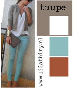 1000 images about modekleuren combineren on pinterest taupe type 4 and om - Kleur taupe ...