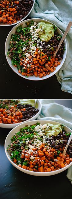 Healthy and hearty Southwestern kale power salad recipe - cookieandkate.com