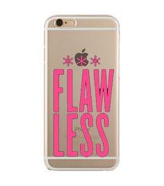 'Flaw-Less pink' transparent cas