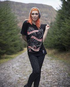 "CRMC X @jfktattoo Hotter than Hell Tattoo ""Foster Not Ravens"" Tee - currently on SALE at www.crmc-clothing.co.uk | WE SHIP WORLDWIDE   Model - @vikivonhelsing  Photography by @jamiemorgans ##tattooedwomen #girlswithtattoos #hot #alternative #alternativeteen #altgirl #alternativegirl #redhair #gold #goldprint #fashionstatement #altfashion #instafashion #fashiongram #fashionista #fashionoftheday #picoftheday #photooftheday #selfie #stylegram #stylefashion #igers #love #beautiful #fashion"