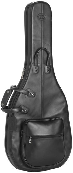 Reunion Blues - Product - Semi-Hollow Body Electric Guitar Bag With Gusset, Black Leather