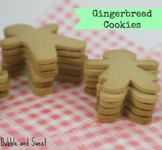 Gingerbread Cookie recipe - does not spread, holds shape from @Erika Wright and Sweet