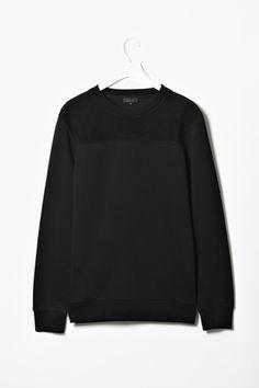 COS Suede panel sweatshirt