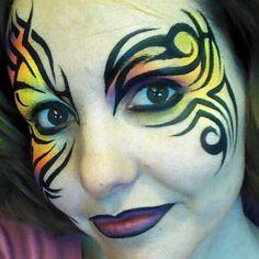 Face Painting Kat - Tribal Eye
