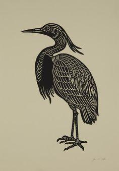 """Evening Heron"" by Jennifer Ament."