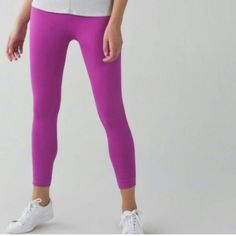 Lulu lemon zone in crops Lulu lemon zone in crops. Size 4. New with tags. I just bought these on posh and they are too snug on the butt:(   Super cute pants!! lululemon athletica Pants Ankle & Cropped