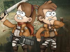 Gravity Falls x Attack on titan Something for my sister