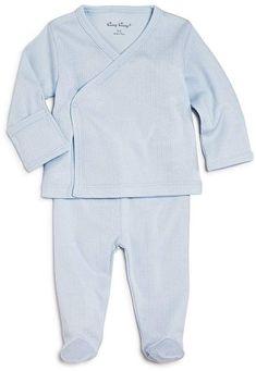 ef46253f3 Kissy Kissy Boys' Pointelle Take Me Home Shirt & Footie Pants Set - Baby
